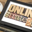 Online strategy on a tablet — Stock Photo #56632785