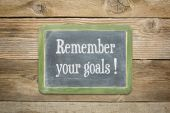 Remember your goals — Stock Photo