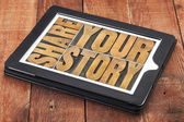 Share your story — Stock Photo