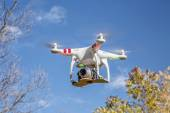 Phantom quadcopter drone flying — Stock Photo