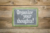 Organize your thoughts — Stock Photo