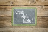 Create helpful habits — Stock Photo