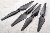 Carbon fiber drone propellers — Stock Photo