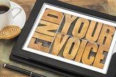 Find your voice concept — Stok fotoğraf