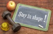 Stay in shape concept — Stock Photo
