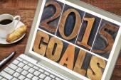 Ziele des Jahres 2015 in Holz-Art — Stockfoto
