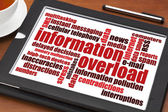 Information overload concept — Stock Photo