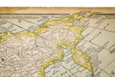 Siberia on a vintage map — Stock Photo