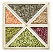 Beans and lentils abstract — Stock Photo