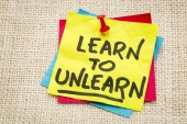 Learn to unlearn advice — Stock Photo