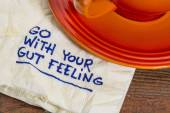 Go with your gut feeling — Stock Photo