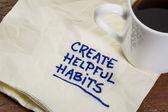 Create helpful habits — Stock Photo