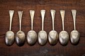Silver tablespoons with patina  — Stock Photo