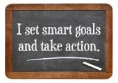 I set smart goals and take action — Stock Photo