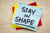 Stay in shape reminder — Stock Photo
