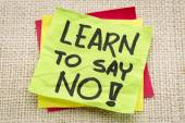 Learn to say no advice — Stock Photo
