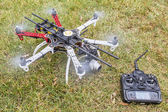 Hexacopter drone with camera — Stock Photo
