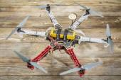 Drone volante F550 fiamma — Foto Stock