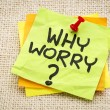 Why worry question — Stock Photo #58880509