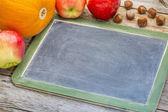 Blank slate blackboard — Stock Photo
