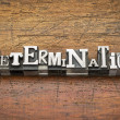 Determination word in metal type — Stock Photo #59134101