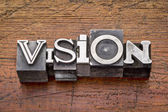 Vision word in metal type  — Stock Photo