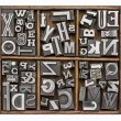 Metal type alphabet — Stock Photo #59452051