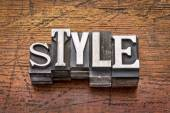 Style word in  metal type — Stock Photo