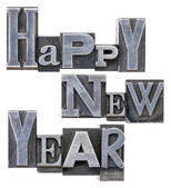 Happy New Year typography — Stock Photo