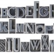 Alphabet in mixed metal type — Stock Photo #59913691