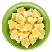 Chunks of dried pineapple — Stock Photo