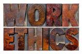 Resumen de palabras de la ética del trabajo — Foto de Stock