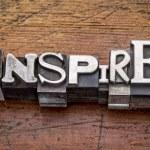 Inspire word in metal type — Stock Photo #60149083