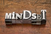 Mindset word in metal type — Stock Photo