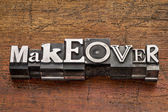 Makeover word in metal type — Stock Photo