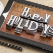 Happy Holidays typography — Stock Photo #60614939