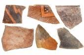 Anasazi Indian pottery artifacts — Stock Photo