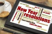 New Year goals or resolutions — Stock Photo