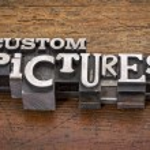 Custom pictures  in metal type — Stock Photo #61452193