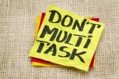 Do not multitask — Stock Photo