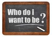 Who do I want to be? — Stok fotoğraf