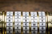 Bible word as password — Stock Photo