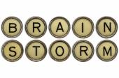 Brainstorm word in  typewriter keys  — Foto de Stock