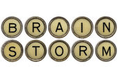 Brainstorm word in  typewriter keys  — Stockfoto