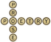 Poetry and prose crossword — Stok fotoğraf
