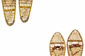 Snowshoes abstract — Stock Photo