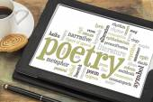 Poetry word cloud — Stock Photo