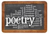 Poetry word cloud — ストック写真