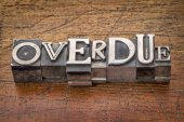 Overdue word in metal type — Stock Photo