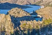 Seaman Reservoir in Rocky Mountains — Stock Photo